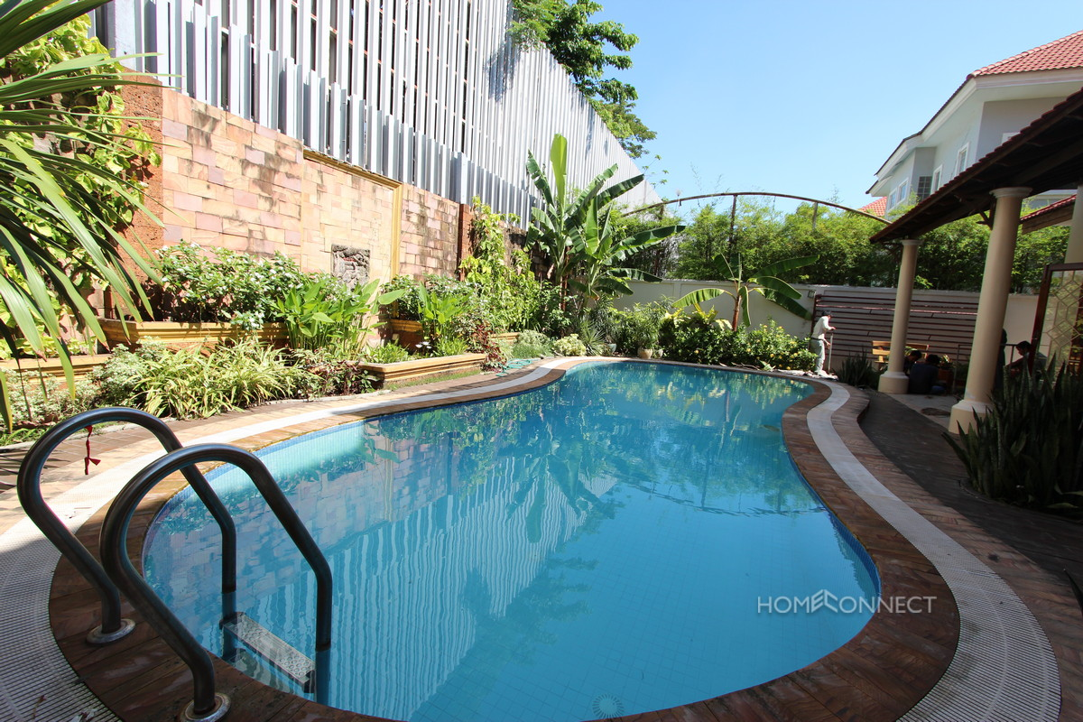 Private Pool 4 Bedroom Villa For Rent In Tonle Bassac | Phnom Penh Real Estate