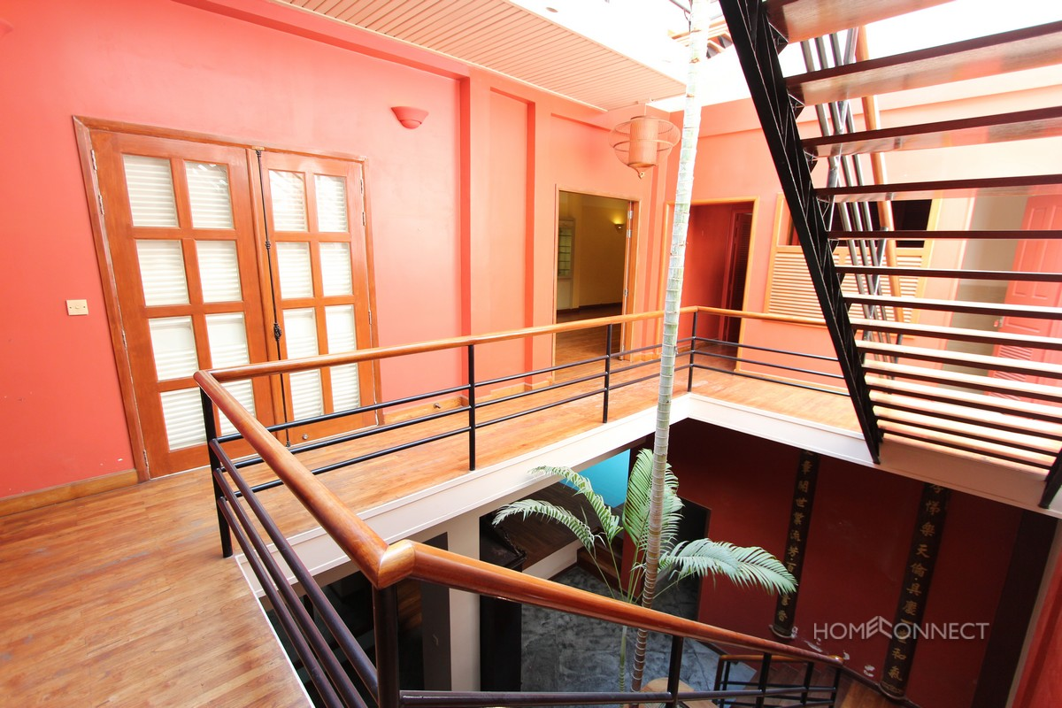 French Colonial 6 Bedroom Villa Near Royal Palace For Rent | Phnom Penh Real Estate
