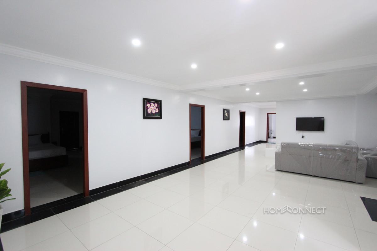 Huge Serviced Apartment 4 Bedrooms 5 Bathrooms in BKK3 | Phnom Penh Real Estate