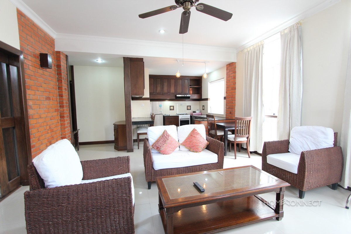 Serviced Modern 1 Bedroom 1 Bathroom Apartment in 7 Makara | Phnom Penh Real Estate