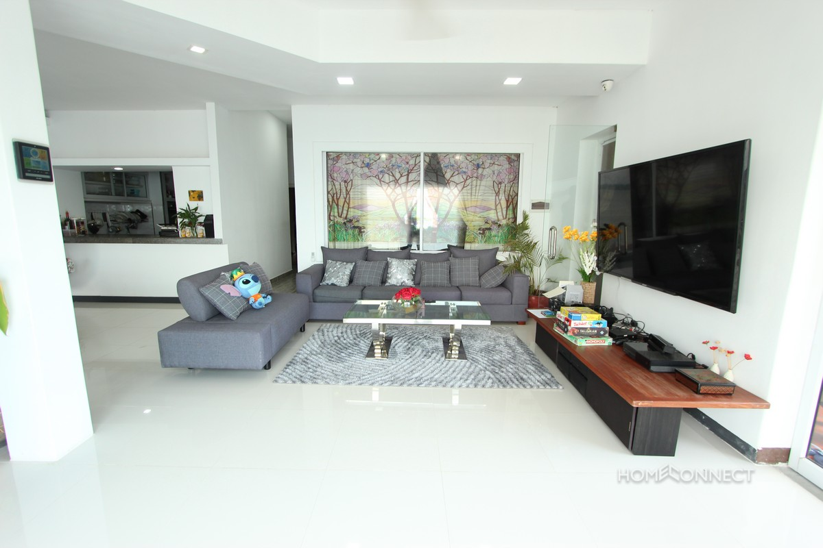 Private Terrace on The Mekong 4 Bedroom Apartment | Phnom Penh Real Estate